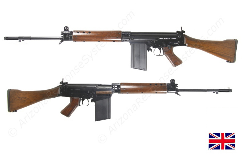DSA UK pattern receiver in early British configuration, Laminate handguards.