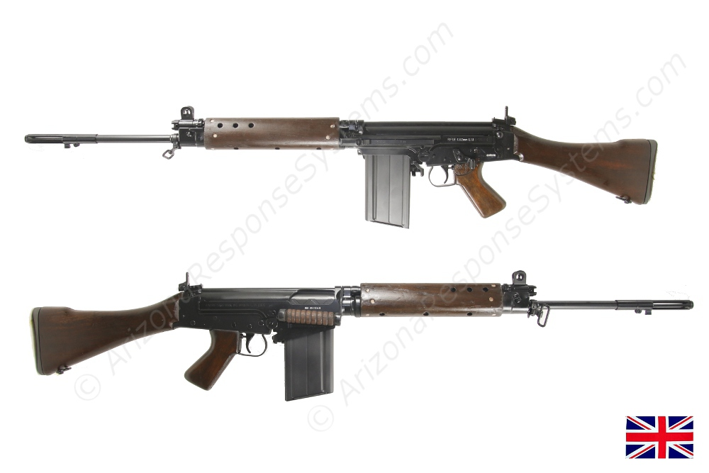 EAI Australian pattern L1A1 receiver with British parts kit and early large rivet wood laminate handguards