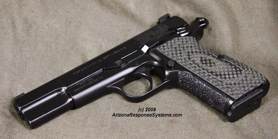 METACOL III™ Satin Black. ARS customized Browning Hi-Power