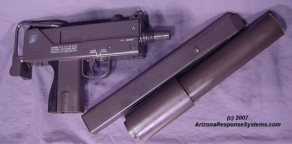 METACOL III Gray on a MAC-10 submachinegun with original Sionics suppressor